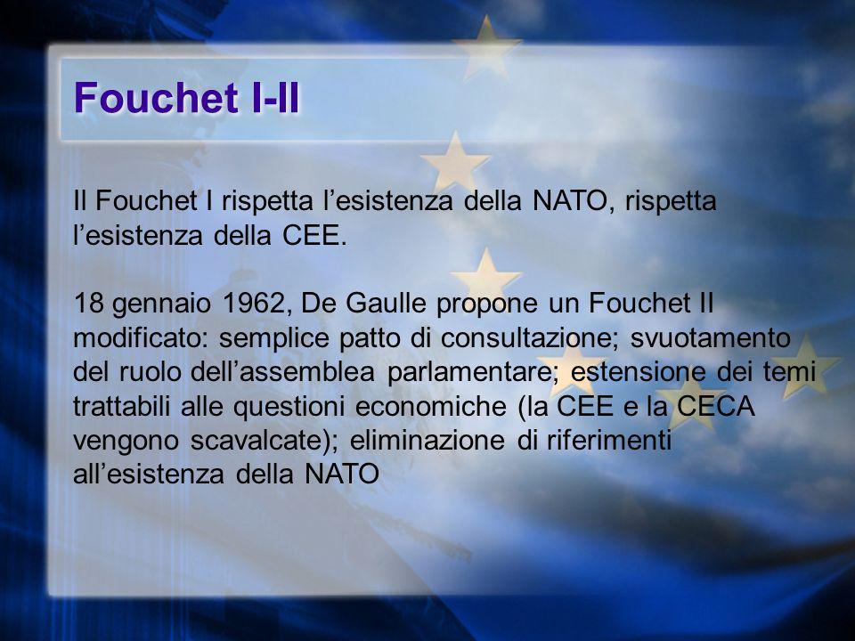 Fouchet I-II Il Fouchet I rispetta l'esistenza della NATO, rispetta l'esistenza della CEE.
