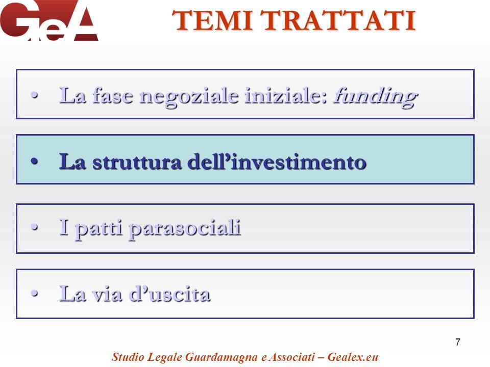 TEMI TRATTATI La fase negoziale iniziale: funding
