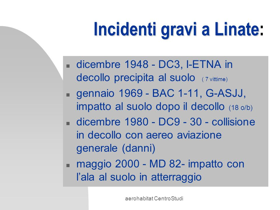 Incidenti gravi a Linate: