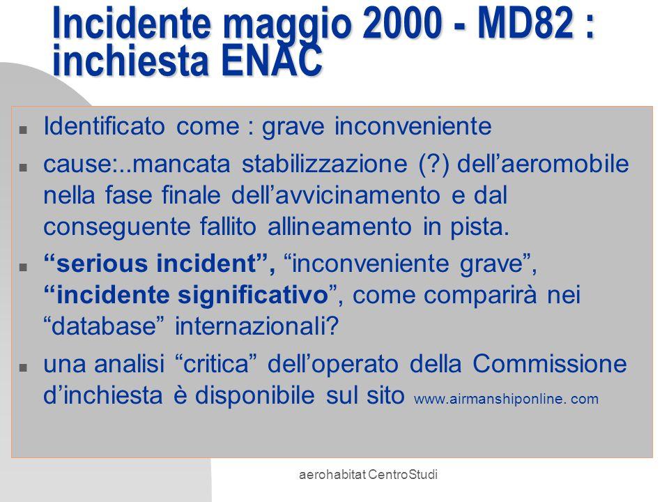 Incidente maggio 2000 - MD82 : inchiesta ENAC