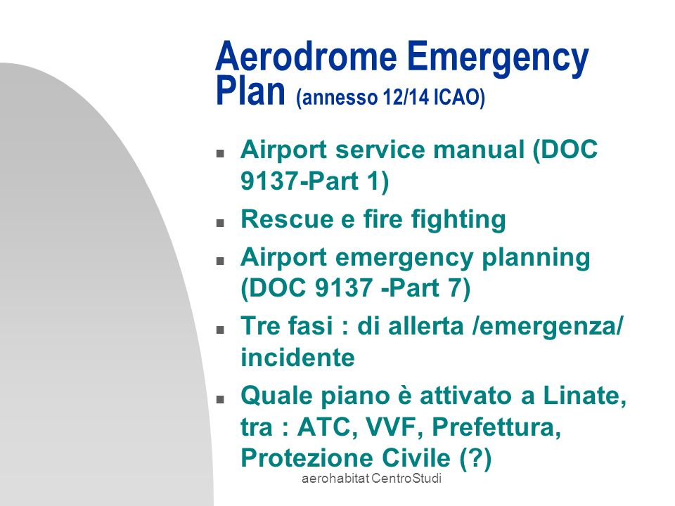 aerohabitat centrostudi ppt scaricare Service Station airport service manual part 7