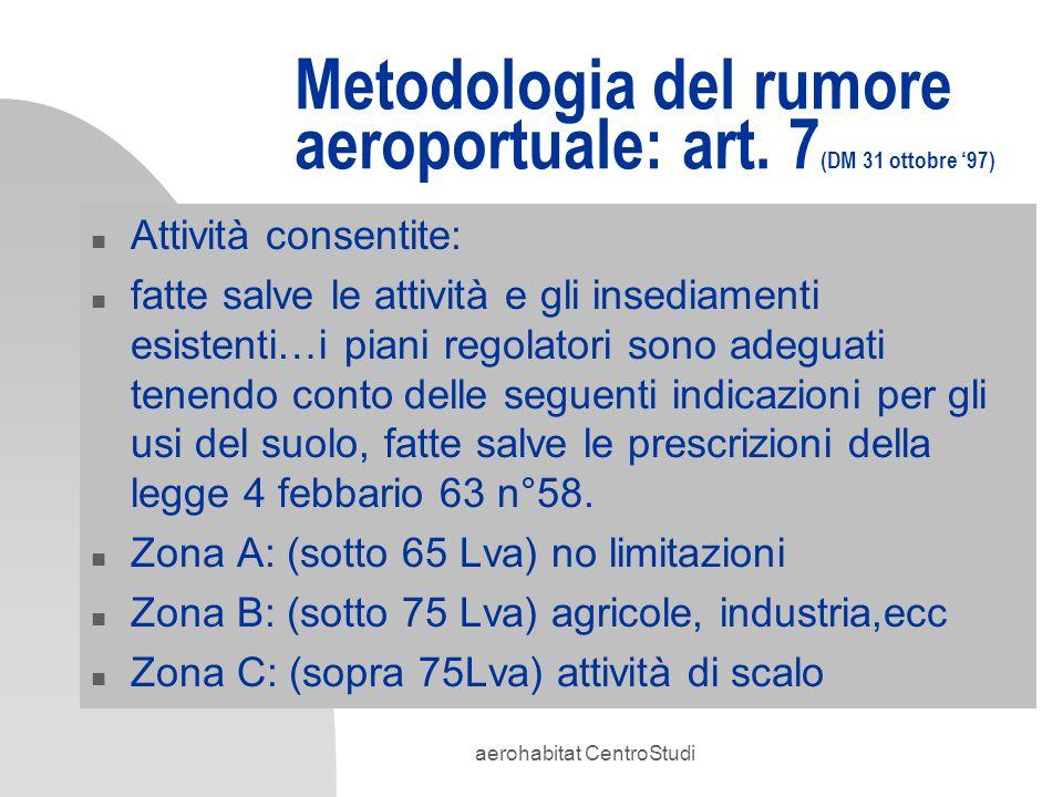 Metodologia del rumore aeroportuale: art. 7(DM 31 ottobre '97)