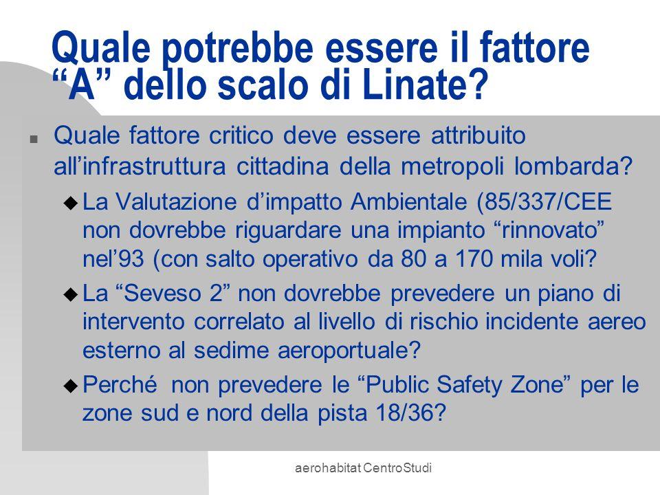 Quale potrebbe essere il fattore A dello scalo di Linate