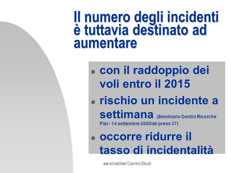 Il numero degli incidenti è tuttavia destinato ad aumentare