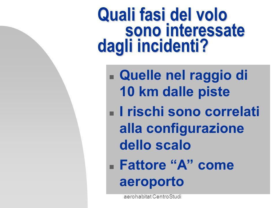 Quali fasi del volo sono interessate dagli incidenti