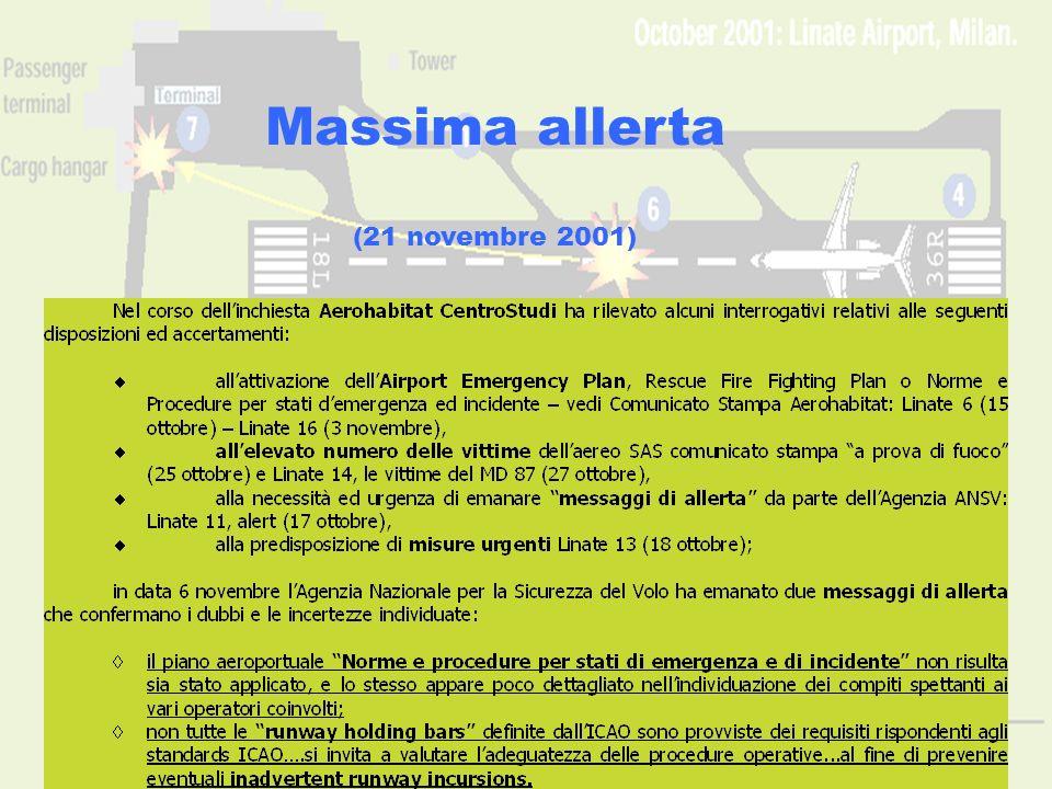 Massima allerta (21 novembre 2001) www.aerohabitat.org