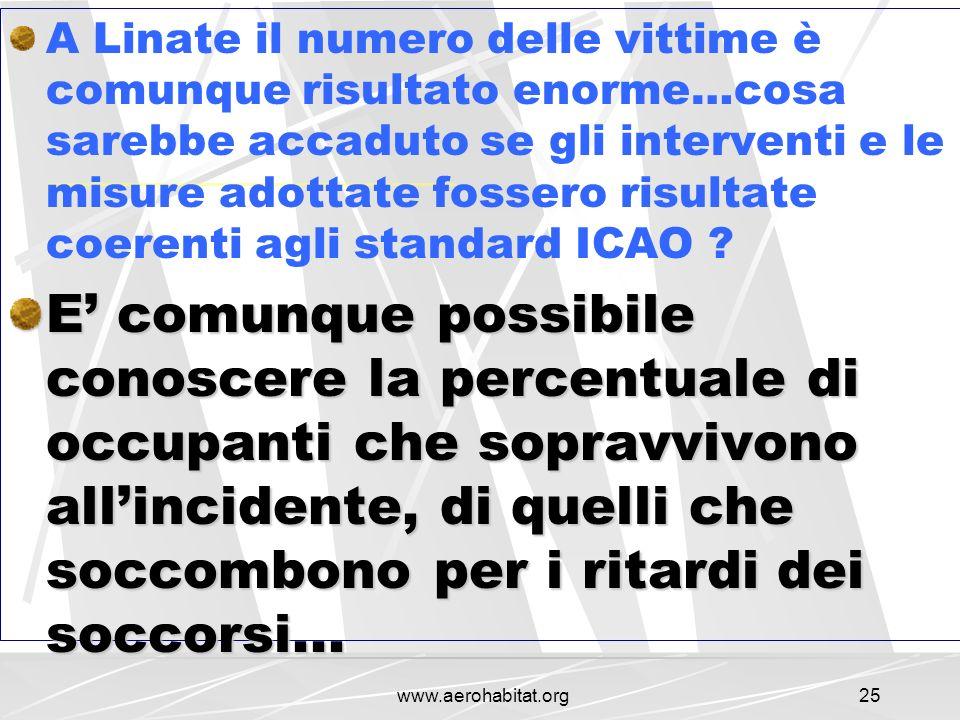 A Linate il numero delle vittime è comunque risultato enorme…cosa sarebbe accaduto se gli interventi e le misure adottate fossero risultate coerenti agli standard ICAO