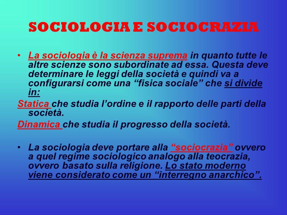 SOCIOLOGIA E SOCIOCRAZIA