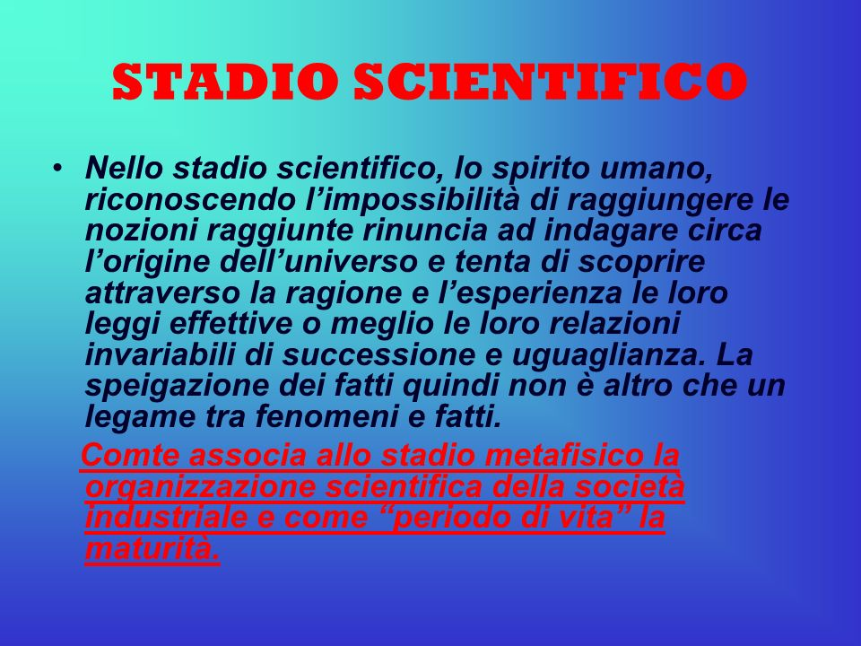 STADIO SCIENTIFICO