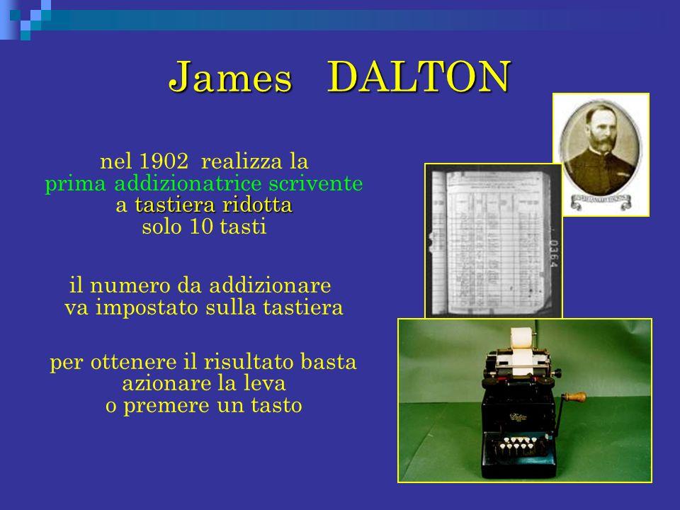 James DALTON il numero da addizionare va impostato sulla tastiera
