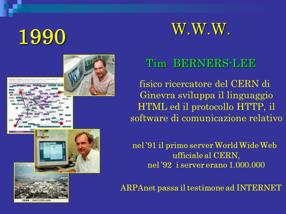 ARPAnet passa il testimone ad INTERNET