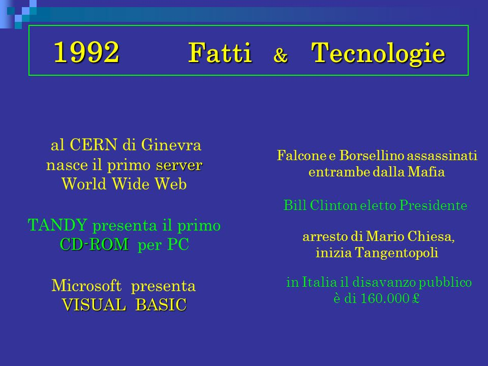 1992 Fatti & Tecnologie
