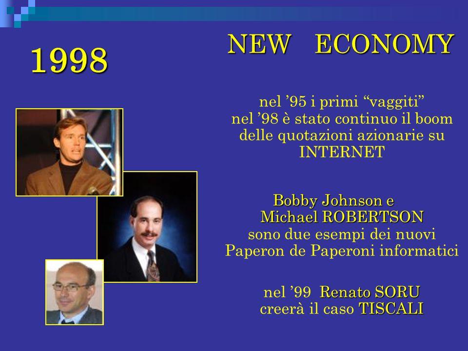 nel '99 Renato SORU creerà il caso TISCALI