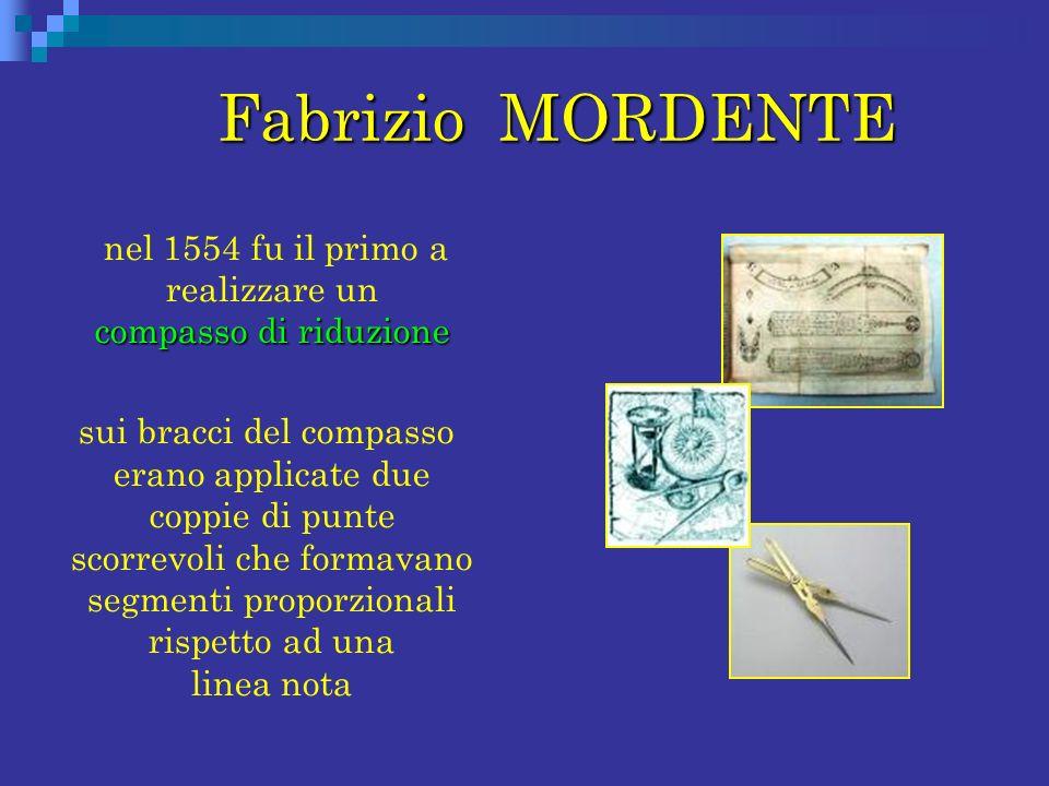 nel 1554 fu il primo a realizzare un compasso di riduzione