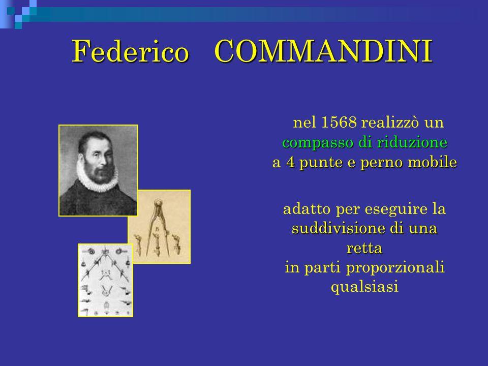 nel 1568 realizzò un compasso di riduzione a 4 punte e perno mobile