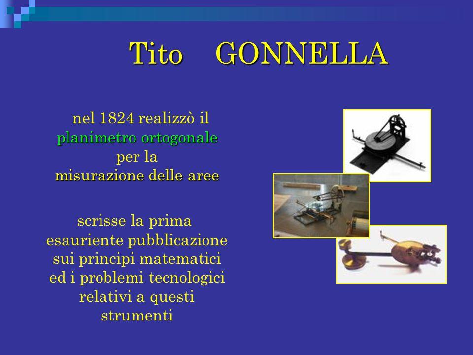 Tito GONNELLA nel 1824 realizzò il planimetro ortogonale per la misurazione delle aree.