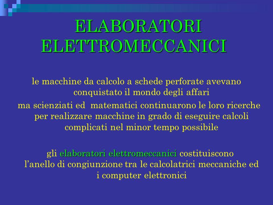 ELABORATORI ELETTROMECCANICI