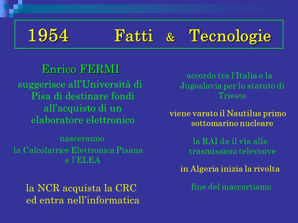 1954 Fatti & Tecnologie Enrico FERMI
