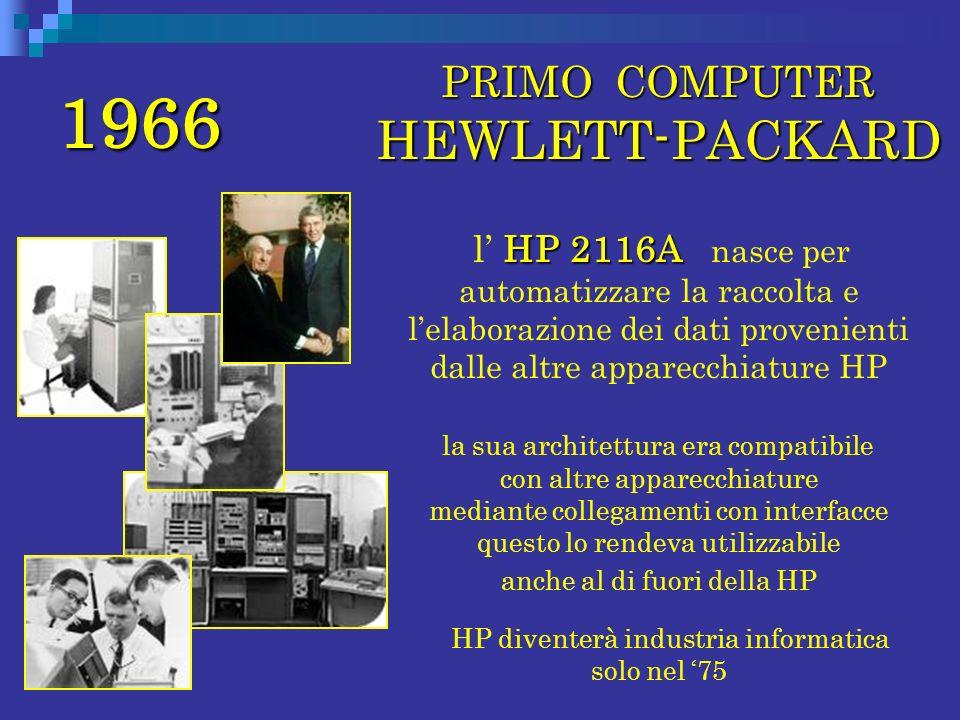 1966 PRIMO COMPUTER HEWLETT-PACKARD