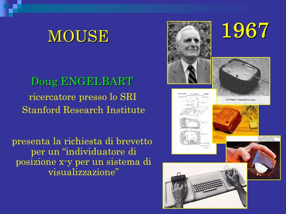 1967 MOUSE Doug ENGELBART ricercatore presso lo SRI