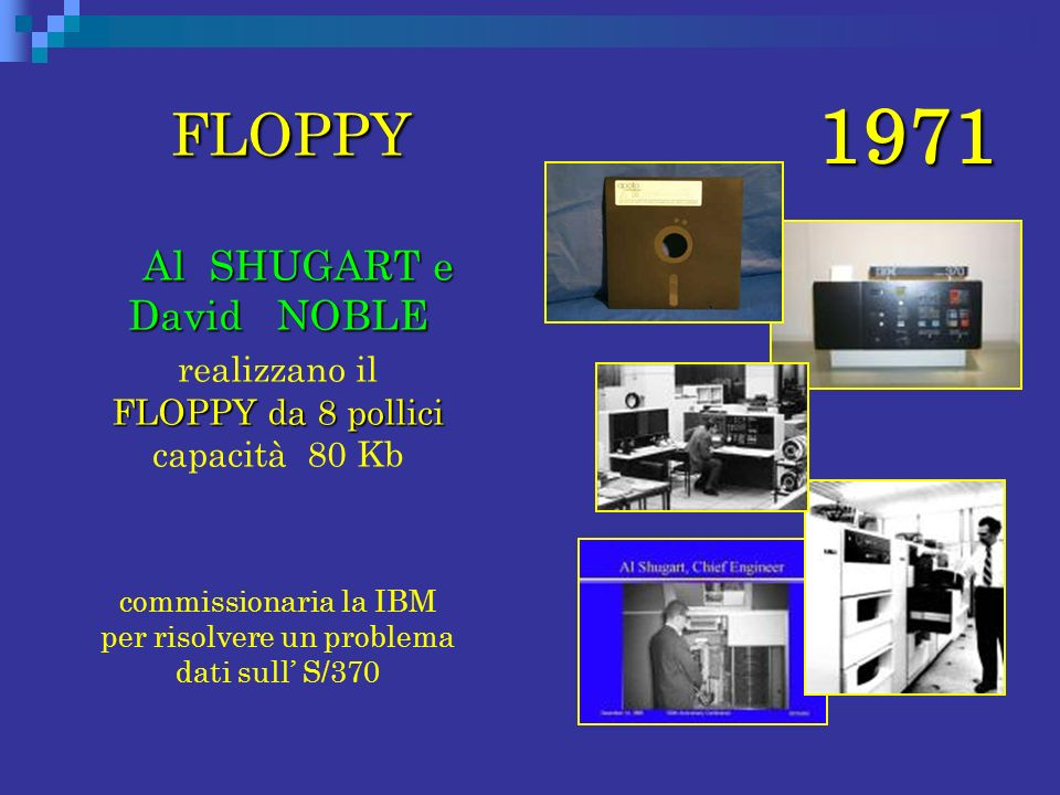 1971 FLOPPY Al SHUGART e David NOBLE