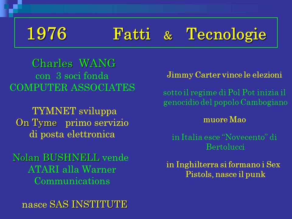 1976 Fatti & Tecnologie
