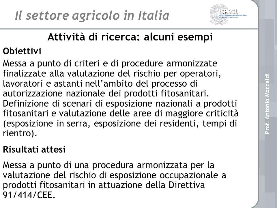 Il settore agricolo in Italia