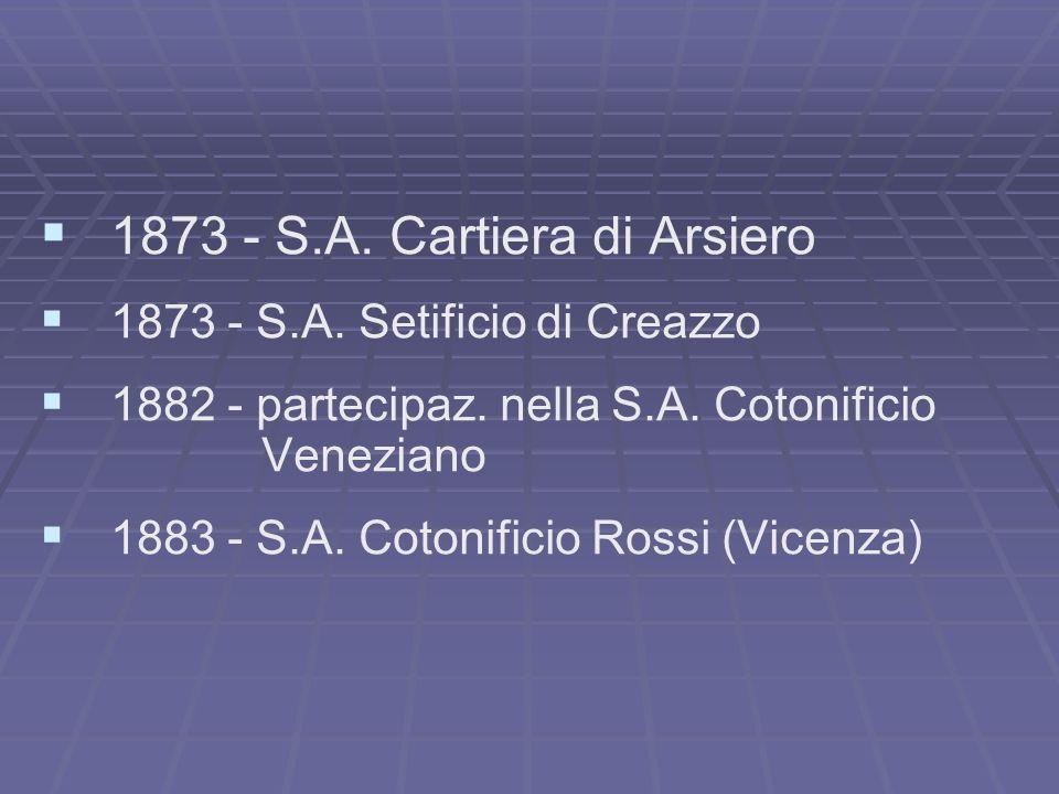 1873 - S.A. Cartiera di Arsiero