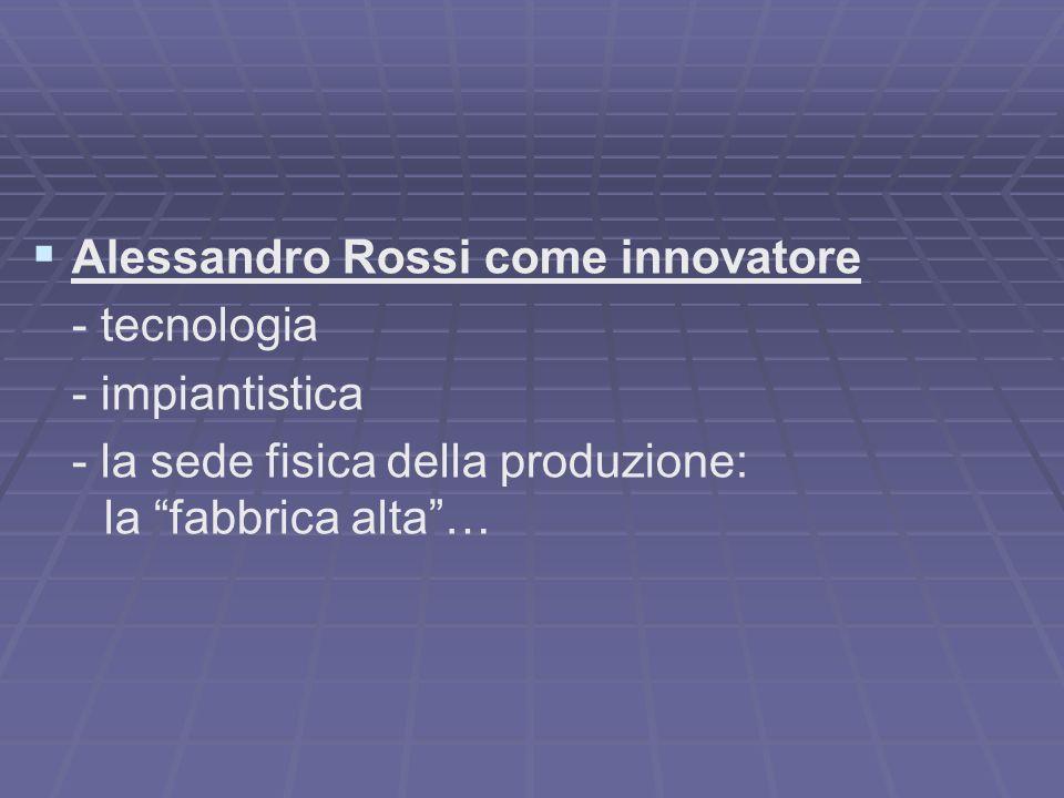 Alessandro Rossi come innovatore