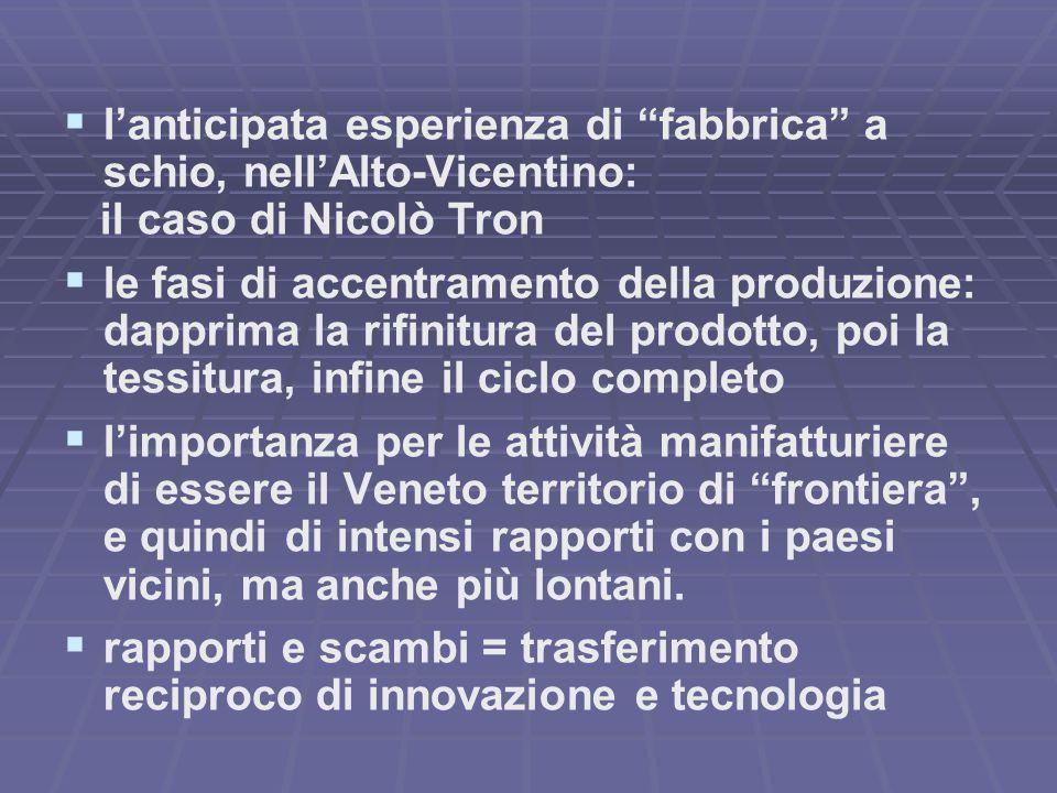 l'anticipata esperienza di fabbrica a schio, nell'Alto-Vicentino: