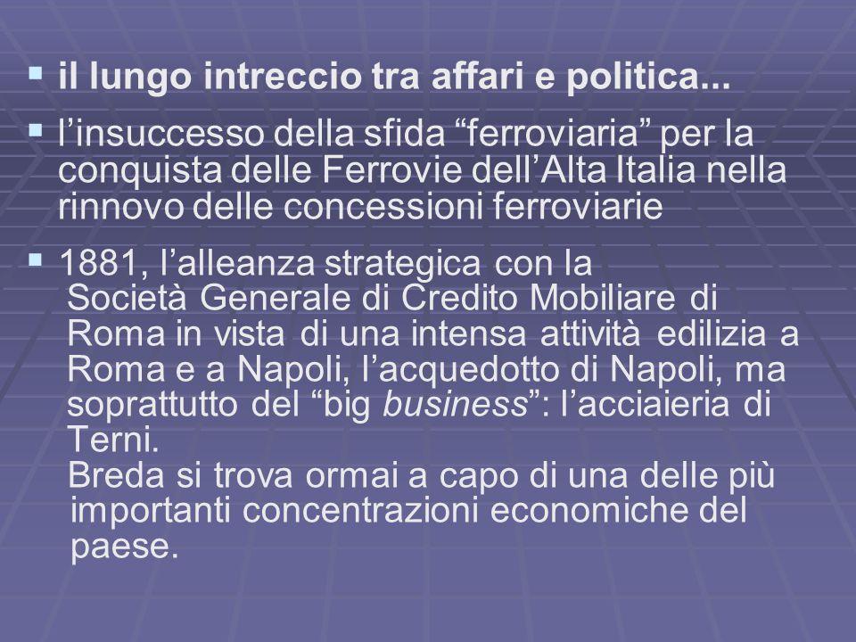 il lungo intreccio tra affari e politica...