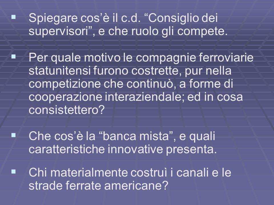 Spiegare cos'è il c.d. Consiglio dei supervisori , e che ruolo gli compete.