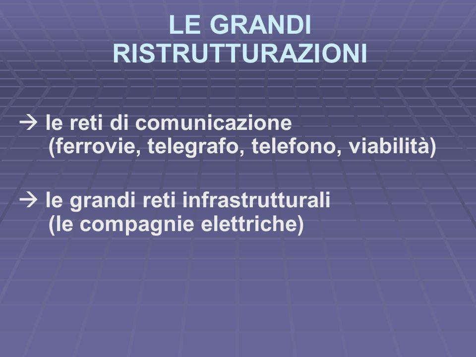 LE GRANDI RISTRUTTURAZIONI