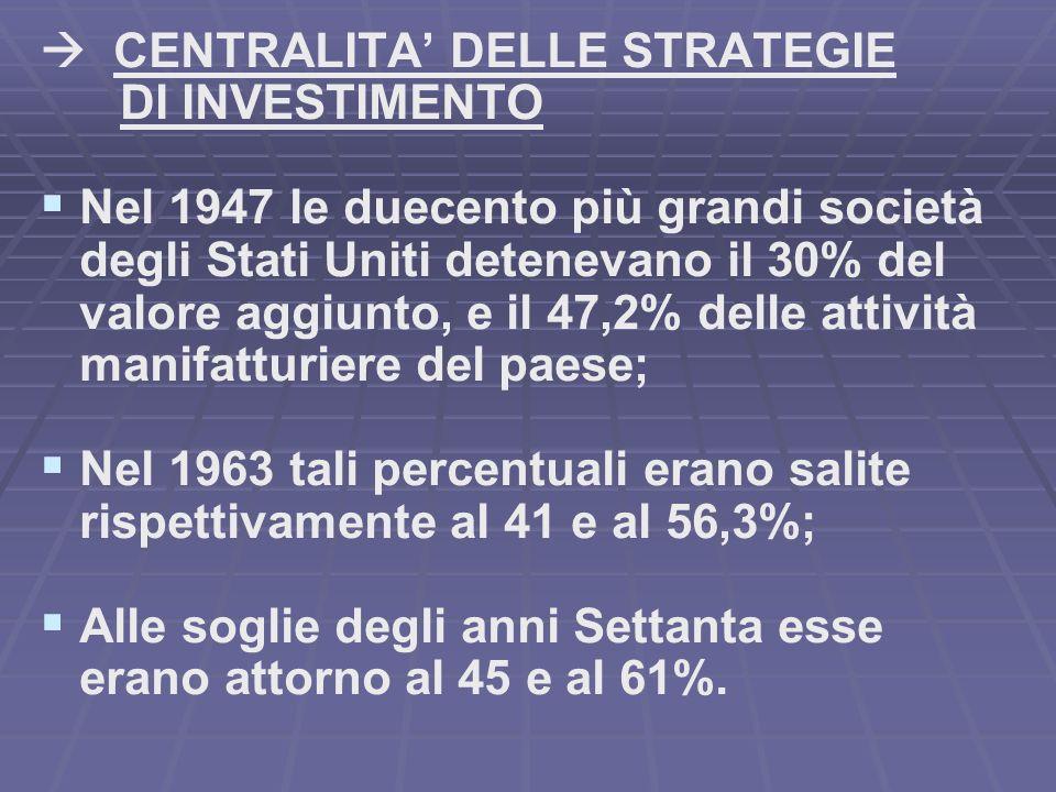  CENTRALITA' DELLE STRATEGIE