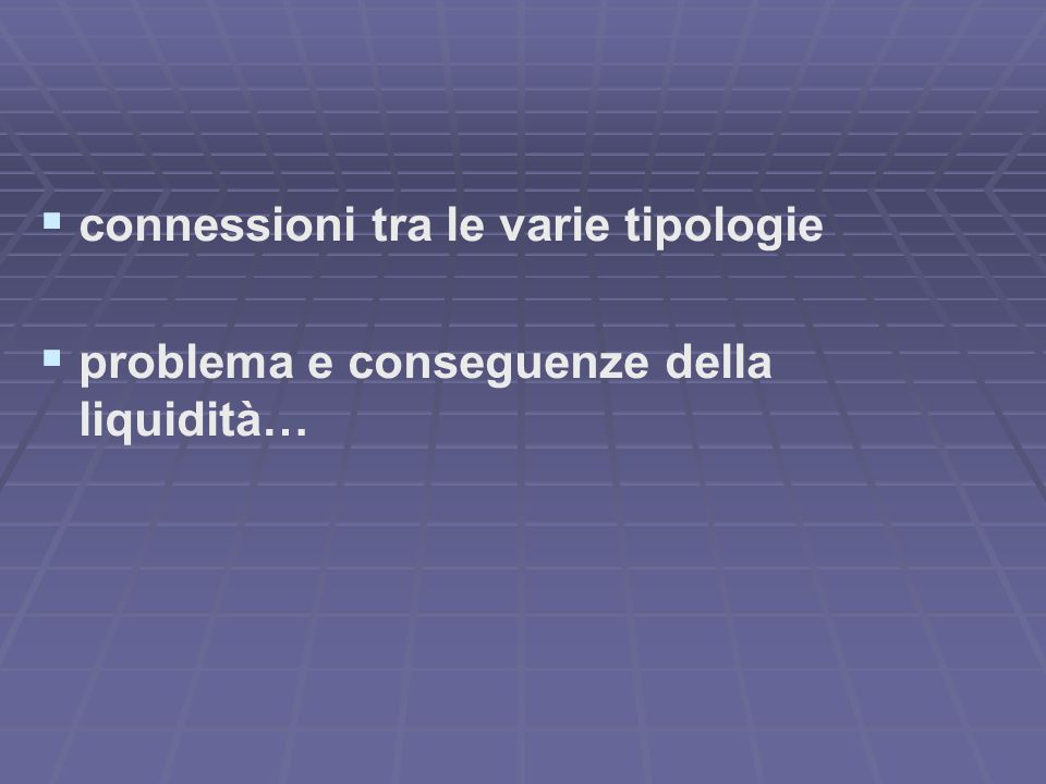 connessioni tra le varie tipologie