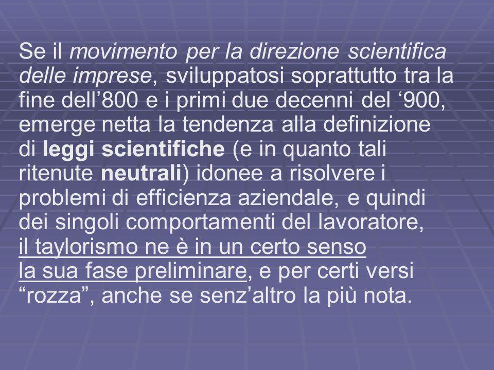 Se il movimento per la direzione scientifica