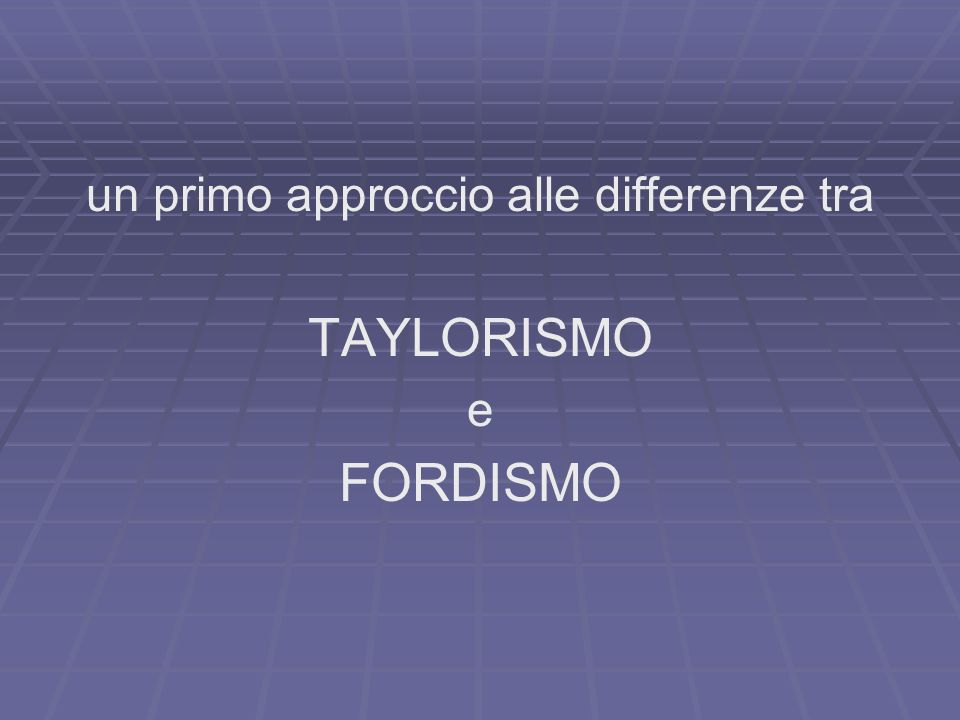 un primo approccio alle differenze tra