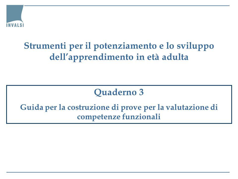 Strumenti per il potenziamento e lo sviluppo dell'apprendimento in età adulta