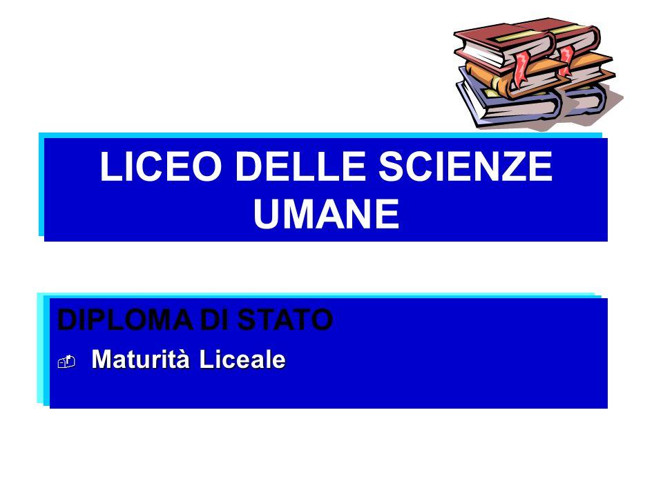 LICEO DELLE SCIENZE UMANE