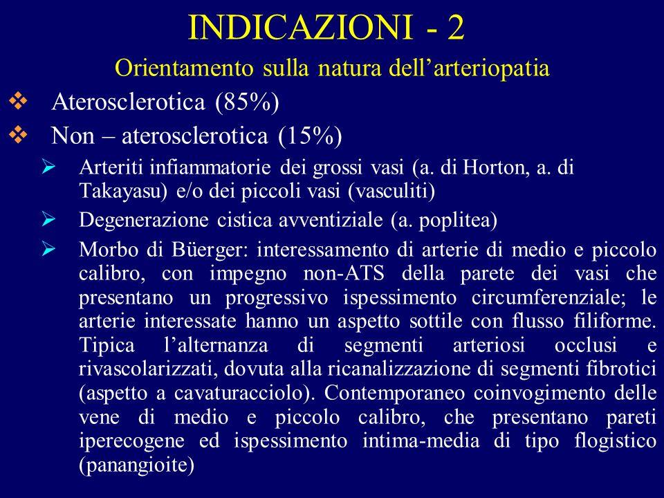 Orientamento sulla natura dell'arteriopatia