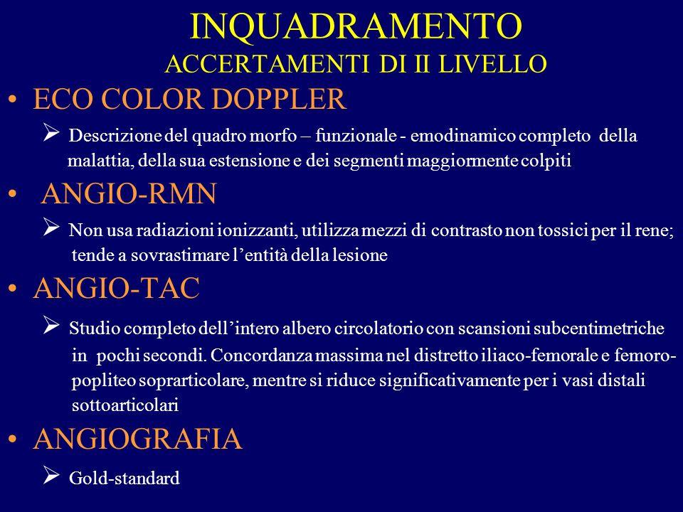 INQUADRAMENTO ACCERTAMENTI DI II LIVELLO