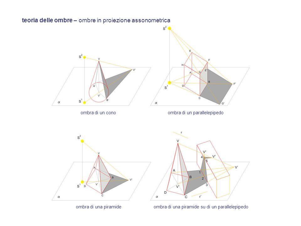 teoria delle ombre – ombre in proiezione assonometrica