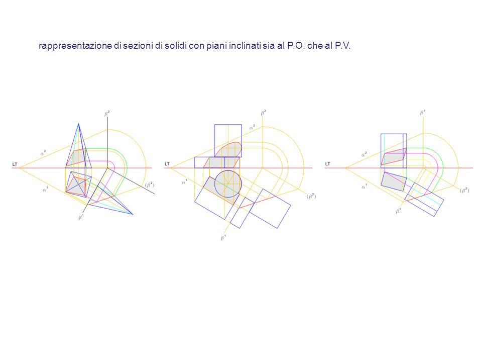 rappresentazione di sezioni di solidi con piani inclinati sia al P. O