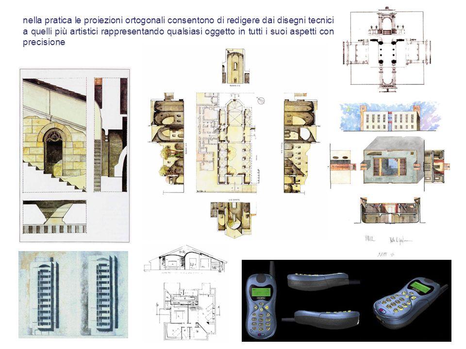 nella pratica le proiezioni ortogonali consentono di redigere dai disegni tecnici a quelli più artistici rappresentando qualsiasi oggetto in tutti i suoi aspetti con precisione