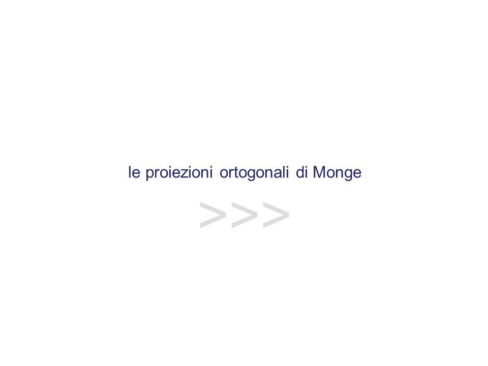 le proiezioni ortogonali di Monge >>>