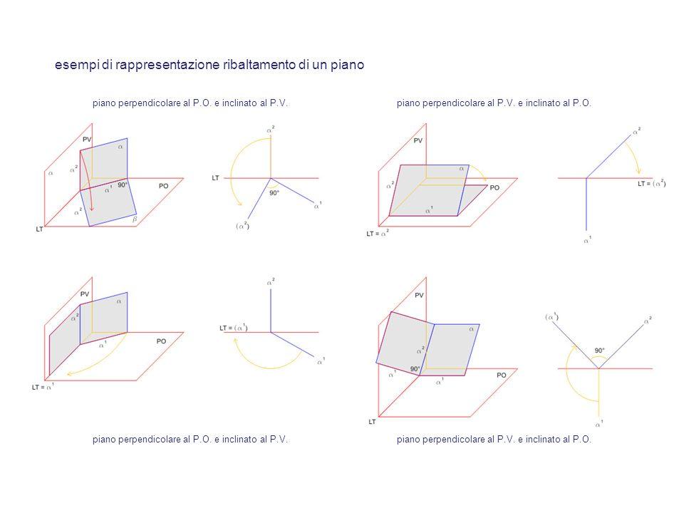 esempi di rappresentazione ribaltamento di un piano