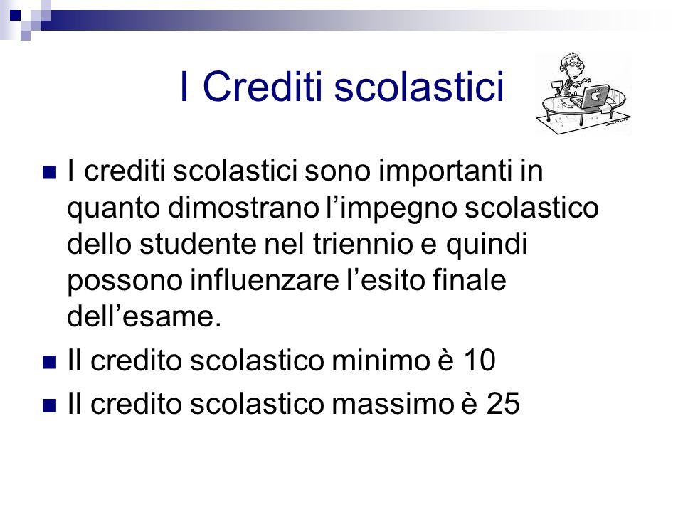 I Crediti scolastici