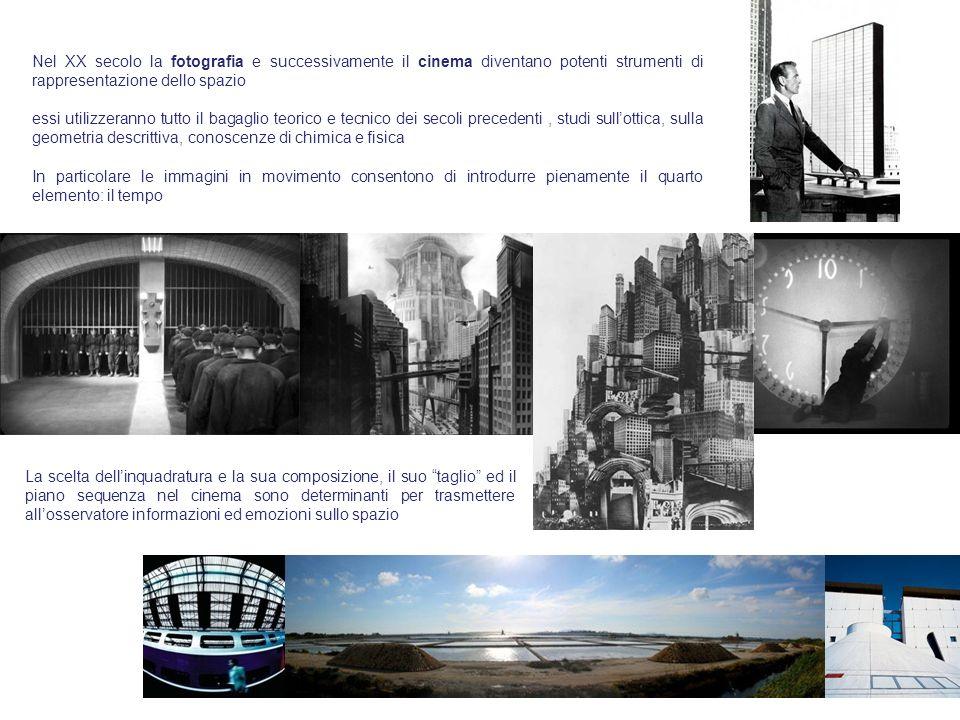 Nel XX secolo la fotografia e successivamente il cinema diventano potenti strumenti di rappresentazione dello spazio