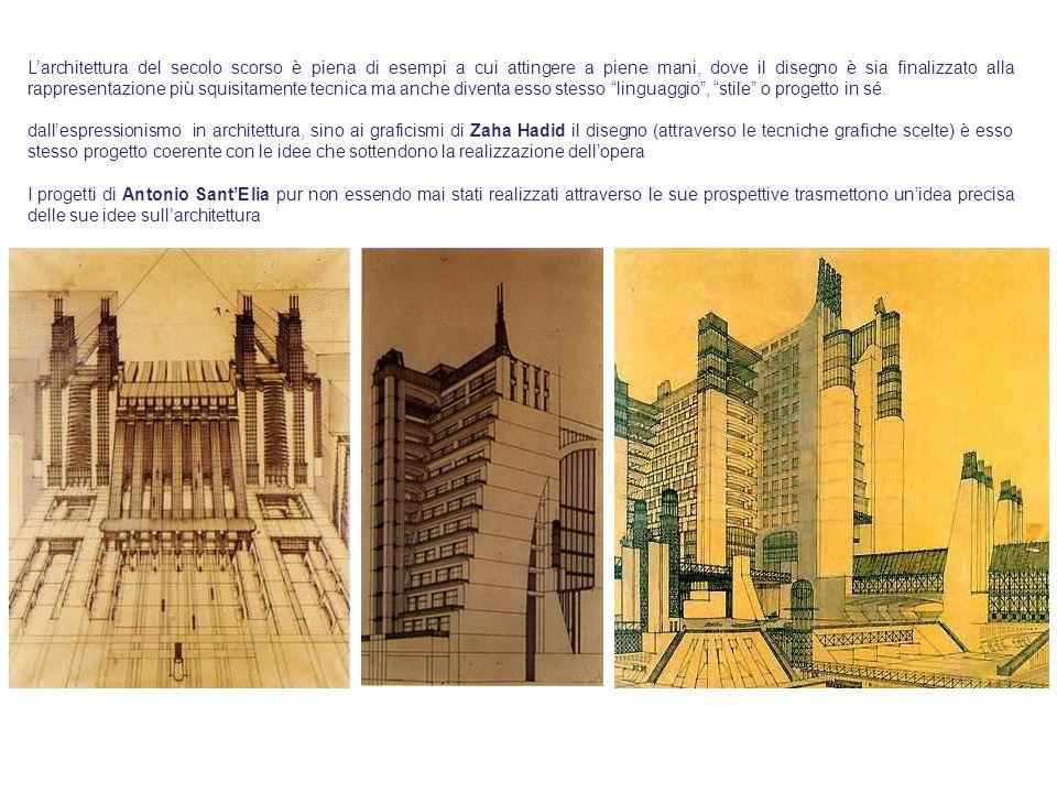 L'architettura del secolo scorso è piena di esempi a cui attingere a piene mani, dove il disegno è sia finalizzato alla rappresentazione più squisitamente tecnica ma anche diventa esso stesso linguaggio , stile o progetto in sé.