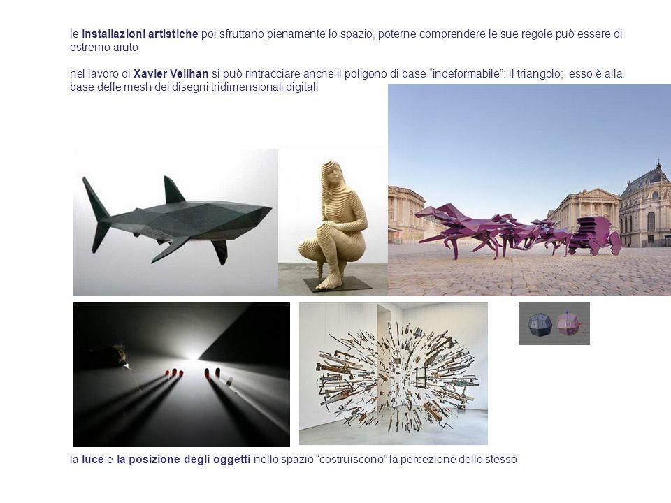 le installazioni artistiche poi sfruttano pienamente lo spazio, poterne comprendere le sue regole può essere di estremo aiuto